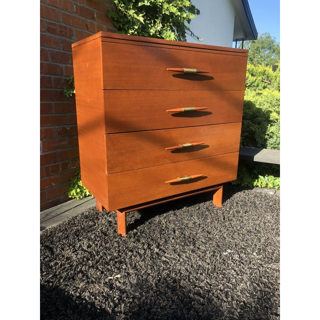 John Keal 1950s Mid-Century Modern John Keal for Brown Saltman Mahogany Highboy Dresser For Sale - Image 4 of 5