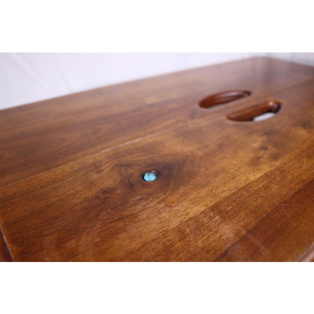 Rustic 1980s Vintage Southwestern Wood Folding Table For Sale - Image 3 of 11