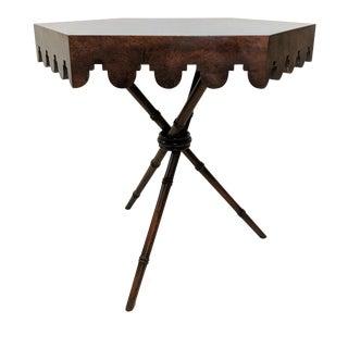 Vintage Smith & Watson Hexagonal Tripod Table For Sale