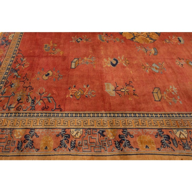 "Textile Apadana-Antique Indo Chinese Rug, 12'0"" X 13'6"" For Sale - Image 7 of 11"