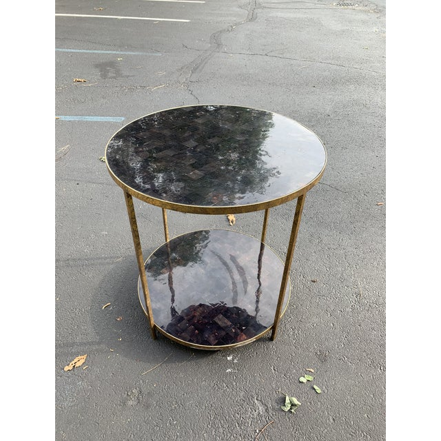 Gold Oly Studios Jonathan Tortoise Shell Side Table For Sale - Image 8 of 8