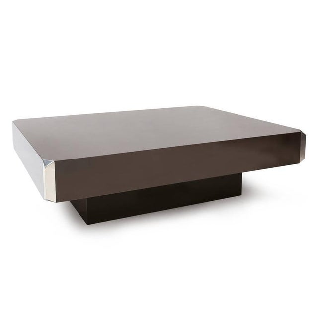 Mid-Century Modern Willy Rizzo Coffee Table For Sale - Image 3 of 7