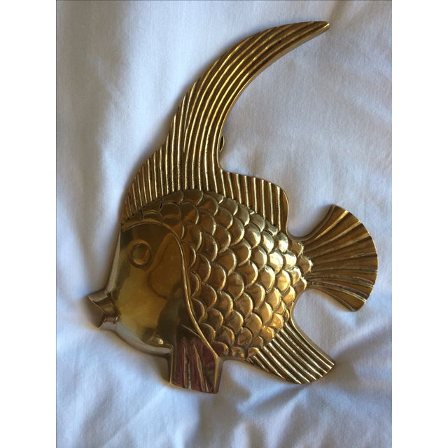 Vintage Brass Angel Fish - A Pair - Image 3 of 7