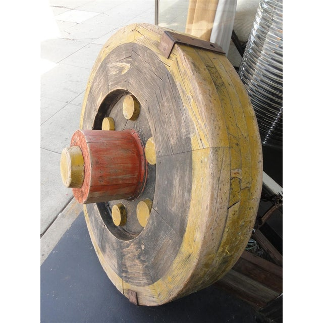 Large Wooden Industrial Gear Mold For Sale - Image 4 of 11