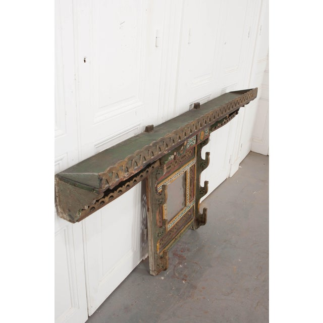 Austrian Early 19th Century Hand-Painted Pine Wall Mounted Coat Rack For Sale - Image 4 of 13