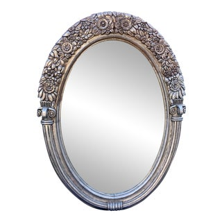 Huge Antique Art Deco Silver-Gilt Mirror - in the Manner of Paul Follot For Sale