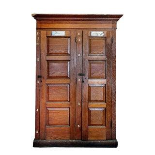 Antique Paneled Pine Cabinet