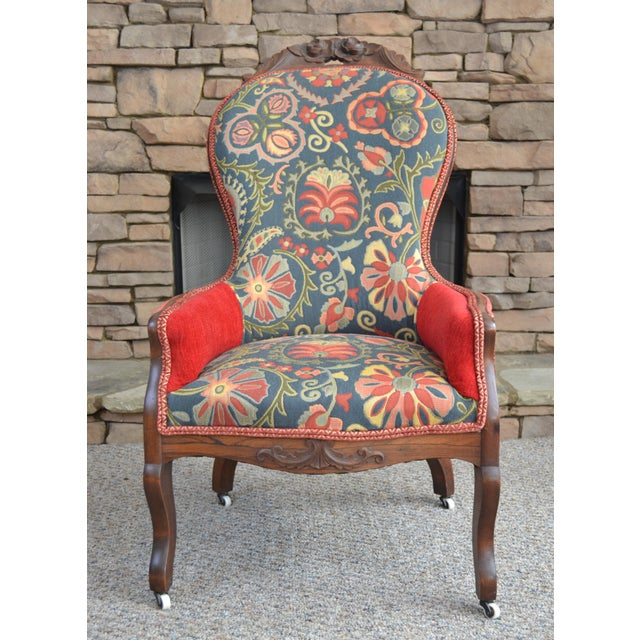 1920s Pride and Paisley Armchair For Sale - Image 5 of 5