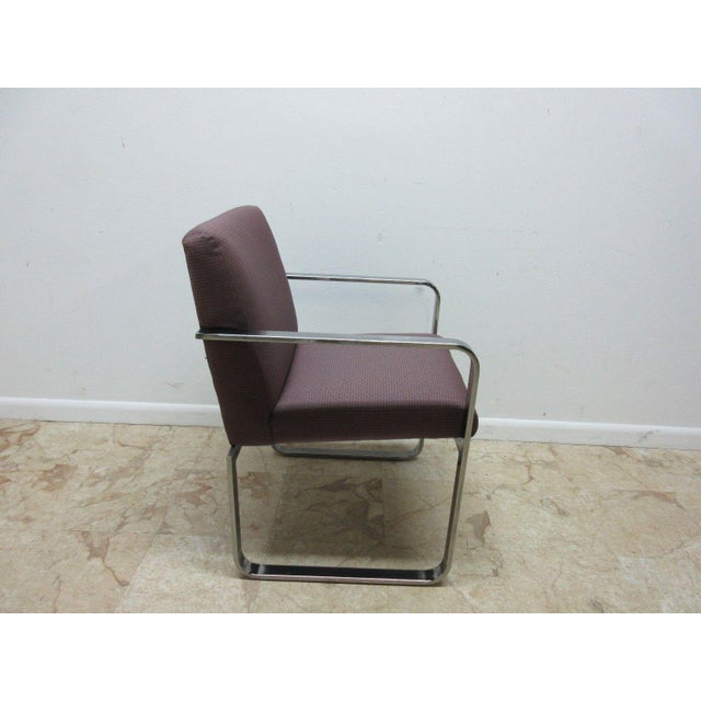 Vintage Chrome Flat Stock Club Chair For Sale - Image 4 of 9