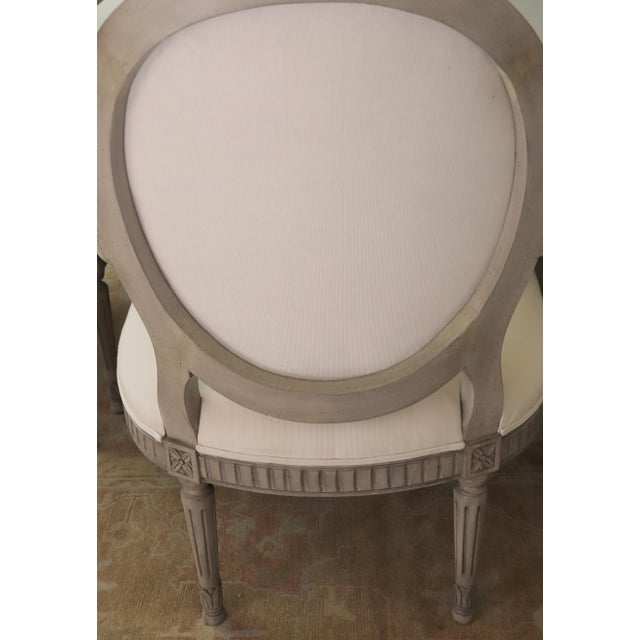 Swede Collection Swedish Oval Back Host Dining Arm Chair For Sale - Image 4 of 8