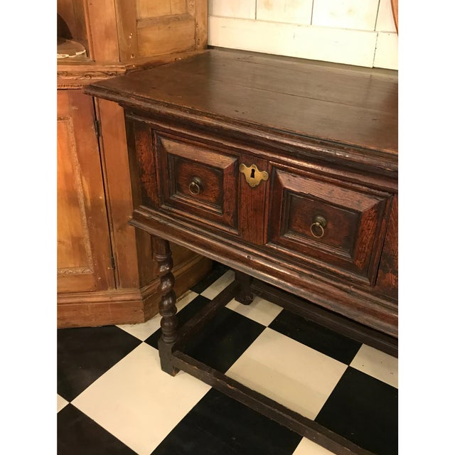 18th Century English Oak Dresser Base For Sale - Image 6 of 7