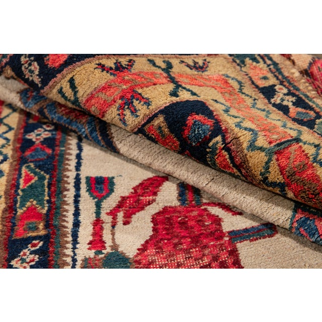 Textile Mid-20th Century Vintage Persian Rug 4' 2'' X 6' 3''. For Sale - Image 7 of 12