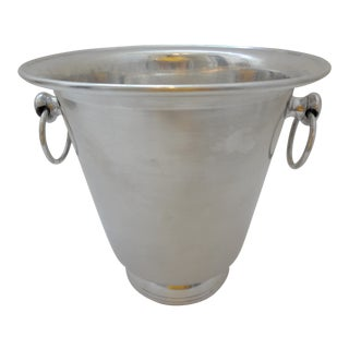 Vintage Mid Century Aluminum Champagne Bucket For Sale