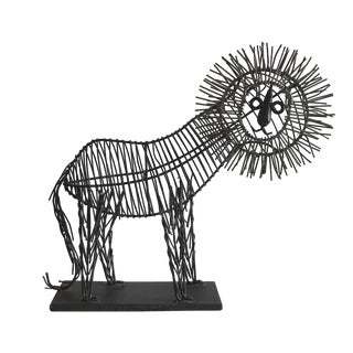 1970s Wire Lion Sculpture For Sale