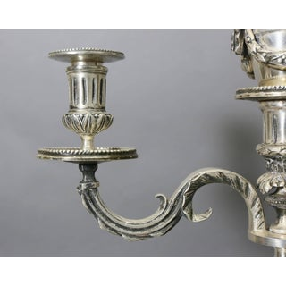Pair of Louis XVI Style Silvered Bronze Candelabra Preview
