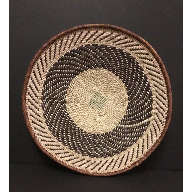 Binga Basket | Tonga Baskets 22 | African Basket | Woven Basket |Zimbabwe Basket |Ethnic Pattern |Ethnic Decor |Wall Hanging Basket - Image 5 of 8