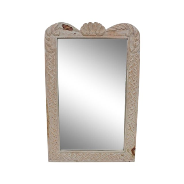 Hollywood Regency Hand Carved Wall Mirror For Sale