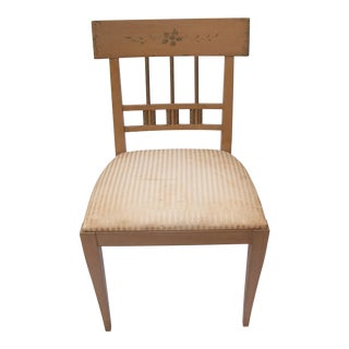 1980s Vintage John Widdicomb Neoclassical Style Side Chair For Sale