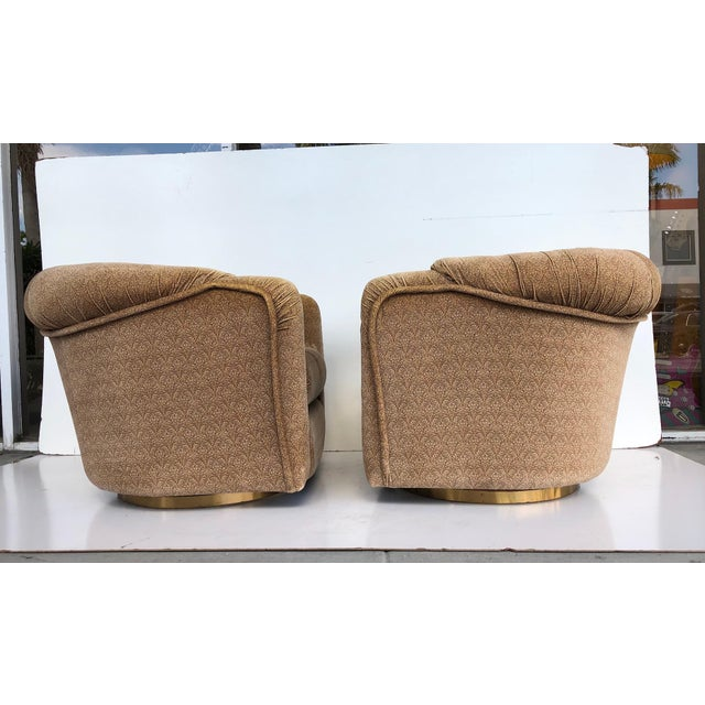 1970s Vintage 1970s Milo Baughman Swivel Chairs - a Pair For Sale - Image 5 of 9