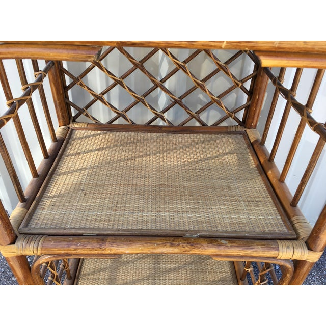 Rattan & Wicker Boho Chic Shelf Unit For Sale - Image 5 of 10