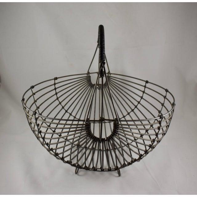 1970s Karl Howard Galvanized Steel Handmade Art Basket, Signed For Sale In Philadelphia - Image 6 of 13