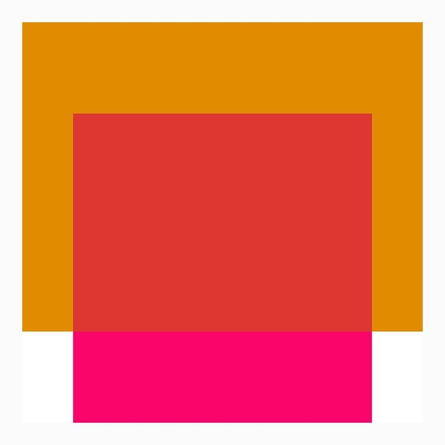 "Mid-Century Modern The Interaction of Gold and Deep Pink Fine Art Print 45"" X 55"" by Liz Roache For Sale - Image 3 of 5"