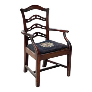 George III Mahogany Childs Armchair For Sale