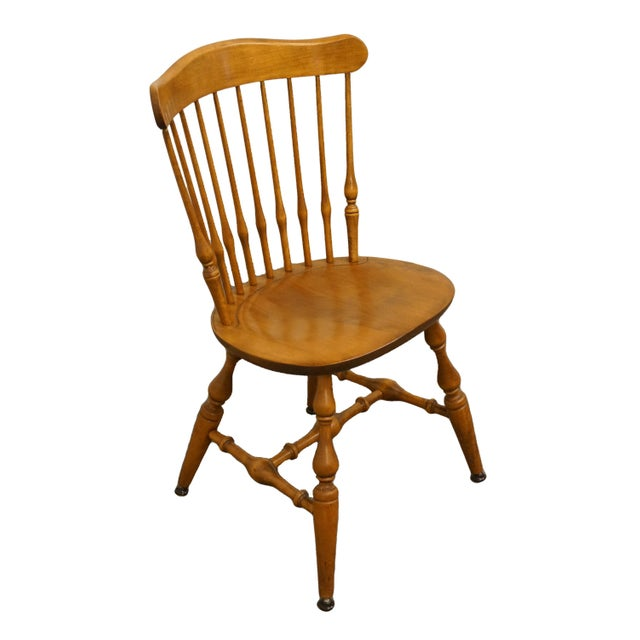 """NICHOLS & STONE Solid Maple Spindle Back Dining Side Chair 441-020 34.5"""" High 20.75"""" Wide 20"""" Deep Seat: 18.5"""" High"""