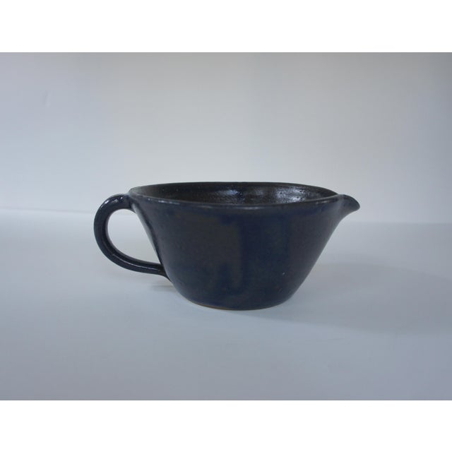 1970s Mid-Century Modern John Garrou for Old Fort Pottery Purple Glaze Pitcher For Sale - Image 11 of 11