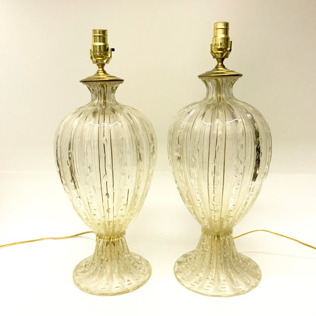 Barovier toso murano glass table lamps a pair chairish barovier toso murano glass table lamps a pair image 2 aloadofball Image collections