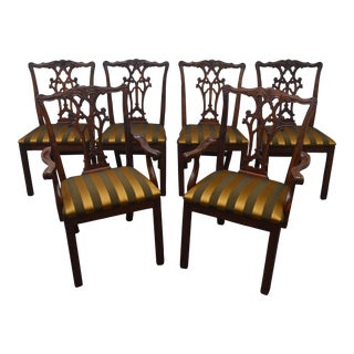 Henredon Mahogany Dining Chairs - Set of 6 For Sale