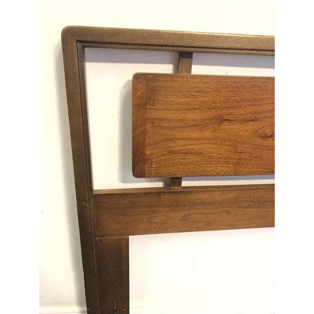 Wood Mid-Century Lane Acclaim Full / Queen Walnut Headboard For Sale - Image 7 of 9