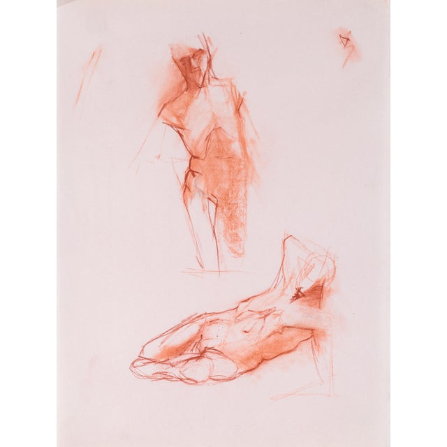 Red Chalk Gesture Drawing - Image 1 of 3
