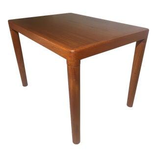Danish Mid Century Solid Teak Side Table