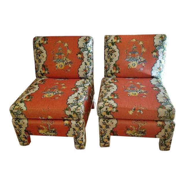 Vintage Chinoiserie Accent Chairs - A Pair For Sale