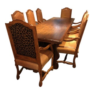 Custom French Dining Set For Sale