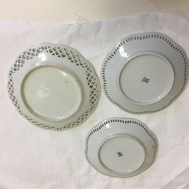 White Bavaria Schumann Porcelain Floral Plates - Set of 3 For Sale - Image 8 of 9