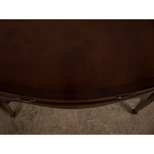 Sheraton Style Serpentine Front English Mahogany Sideboard Crossbanded with Rosewood Made by Hand For Sale - Image 11 of 11