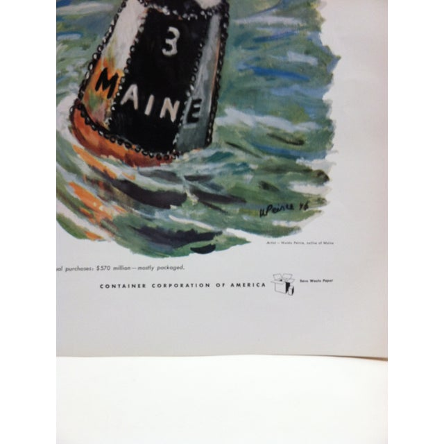 """1960s Vintage """"Maine"""" Container Corporation of America Color Advertising Print For Sale - Image 4 of 5"""