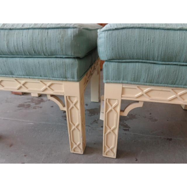 Chippendale Style Fretwork Benches - A Pair - Image 3 of 8