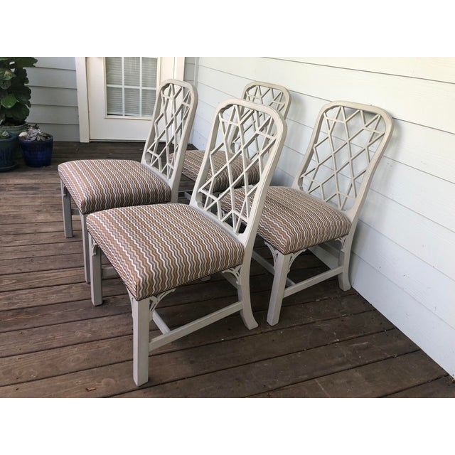 Hickory Furniture Hickory Furniture Linwood Chippendale Chairs- Set of 4 For Sale - Image 4 of 11