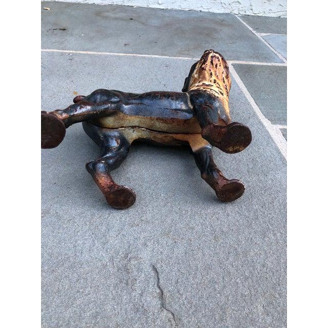 White Iron Boston Terrier Figurine For Sale - Image 8 of 9
