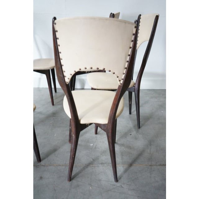Gio Ponti Vintage Italian Dining Chair by Designer Gio Ponti, Sold as a Set For Sale - Image 4 of 9
