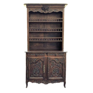 Vaisselier/Buffet, 19th Century French Hand Carved Oak From Normandy For Sale