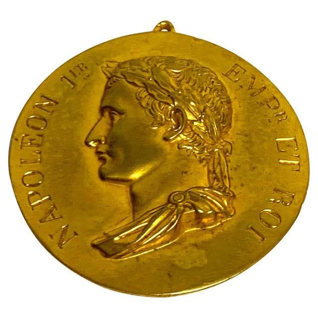 Metal 19th Century French Empire Napoleon 1er Empire Et Roi Portrait Plaque For Sale - Image 7 of 7