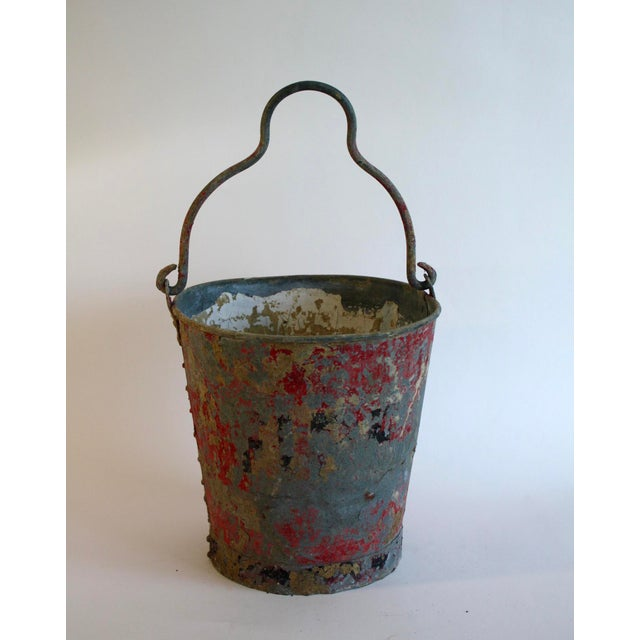 Vintage Red Fire Brigade Bucket For Sale In Los Angeles - Image 6 of 6