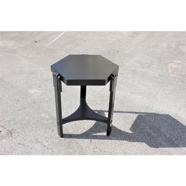 1940s French Art Deco Black Ebonized Coffee Table For Sale - Image 13 of 13