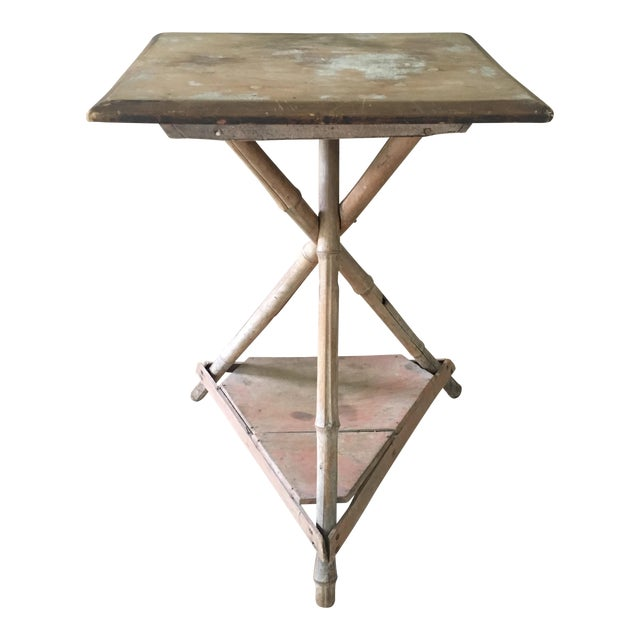 Bamboo Wood Side Table - Image 1 of 6