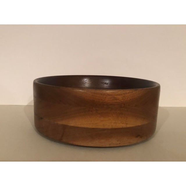 Vintage Handcrafted Wooden Turned Bowl For Sale In South Bend - Image 6 of 6