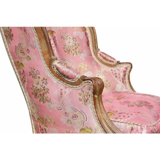 Louis XV Style Walnut and Painted Bergere Chair - Image 3 of 10